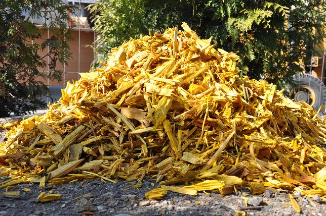Dekoračná Mulč - žltá